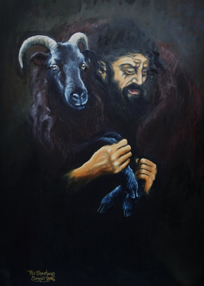 The Shepherd Carrying Sheep